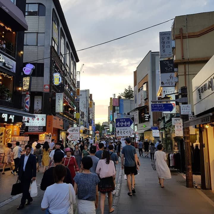 The historical streets of Insadong