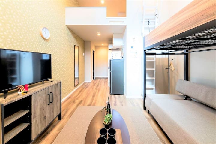 1 stop to Hakata station!/ Up to 5 guests/ Free Wi