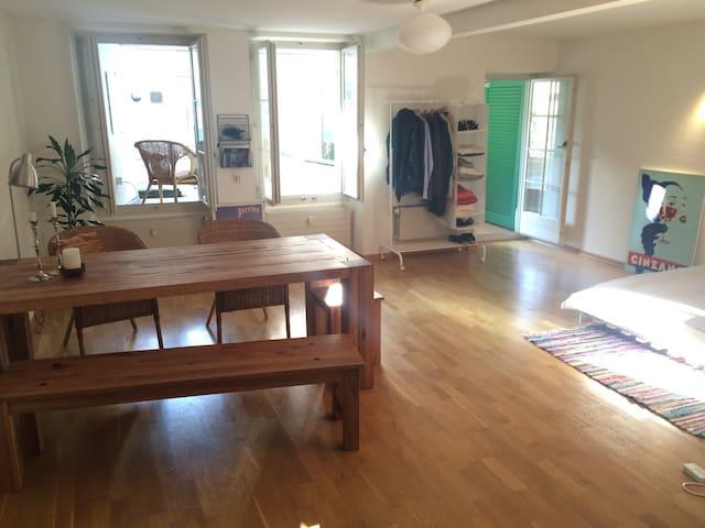 Lovely studio with huge terrace (weekends)