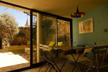 Charmant T2 avec terrasse, piscine - Saint-Marcel-d'Ardèche - Rumah