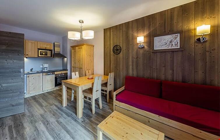 Studio cosy et confortable, coeur de la station, cuisine équipée