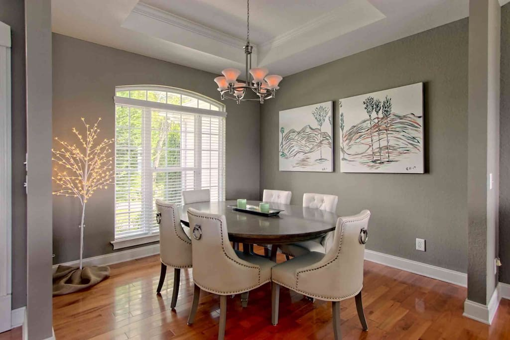 Enjoy dining in the formal dining room which seats six.