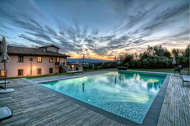 Apt in Villa,pool,Spa, Chianti view - Loro Ciuffenna - Apartment