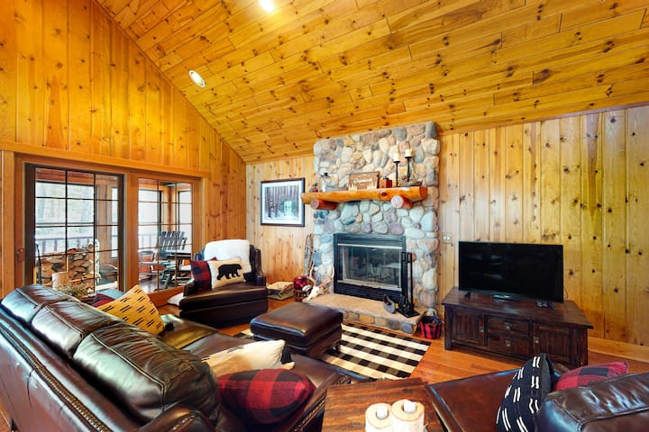Dog-Friendly, Lakefront Home w/ a Private Dock, Free WiFi, & a Wood Fireplace