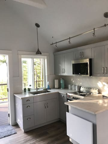 Fully functional kitchen with a fabulous view!