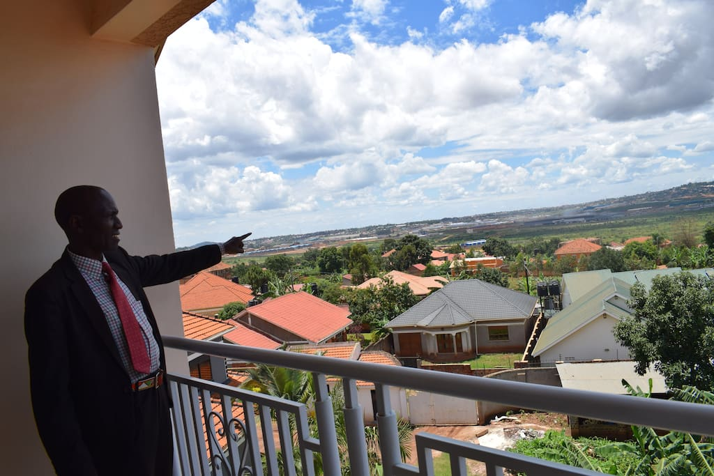 A Guest enjoys the ambience of the Balcony at Lapiz Country Hotel