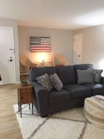 Completely remodeled 2 bedroom, 1 bath apartment.