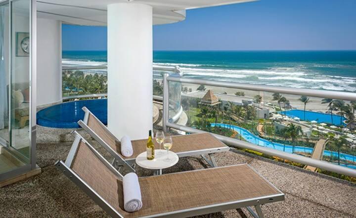 GrandMayan Suite 1 Rm A píe de playa Disponible!!