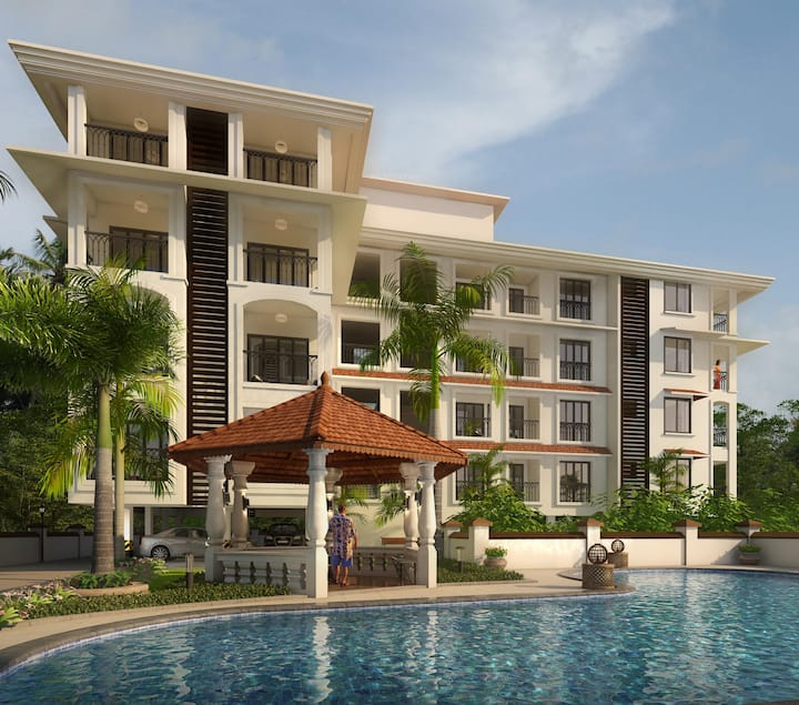Casa Legend Candolim · Luxurious 1-Bedroom Apartment near Candolim Beach