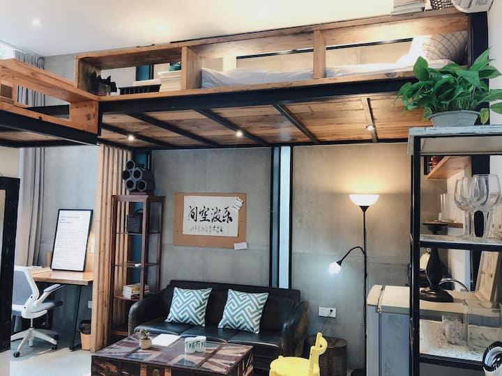 【免服务费】西岸滨江上海南站 家庭房 同学房 Loft一房双床