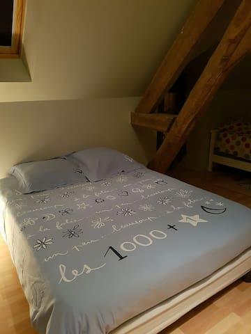 Chambre climatisée, wc/sdb privés