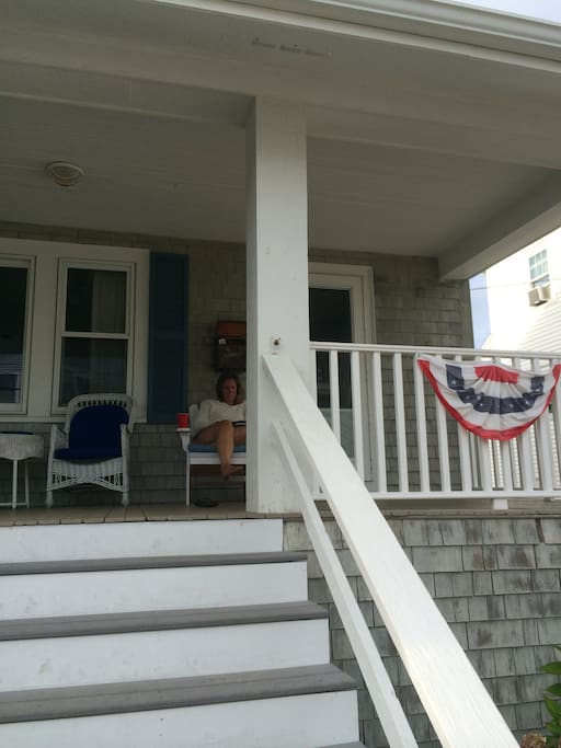Great front porch....