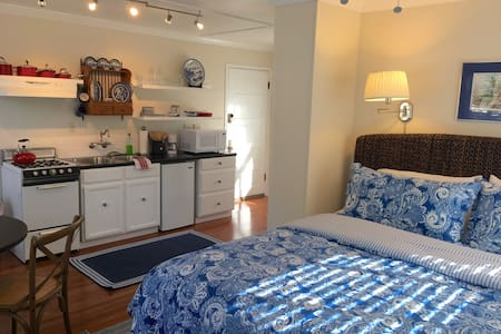 Hot Tub, Historic Carriage House Near Downtown