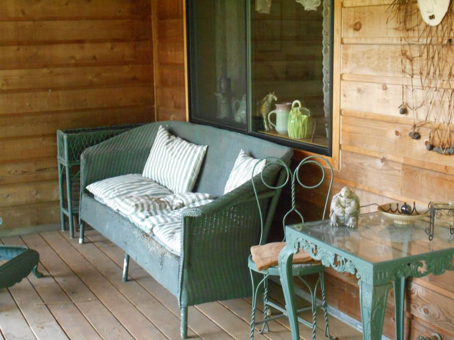 Enjoy sipping coffee on your private deck
