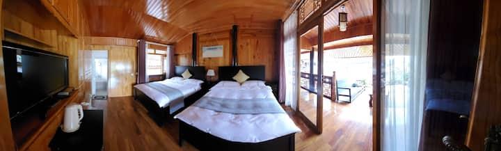 和顺古村1.5米阳光双床房!