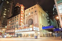 Take in a show at the historic Chicago Theater-8 min Uber/Lyft ride
