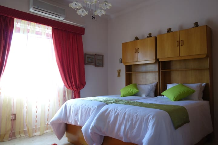 Large ensuite Twin bedded/King bedded Room - St. Julian's