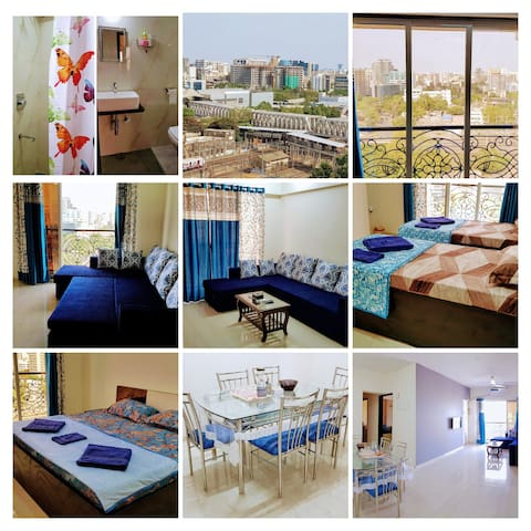 BLISS 15; Royal Blue Apartment near Airport