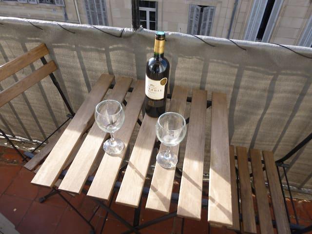 Charmant T1 Balcon Climatisation 10 mns Vieux Port