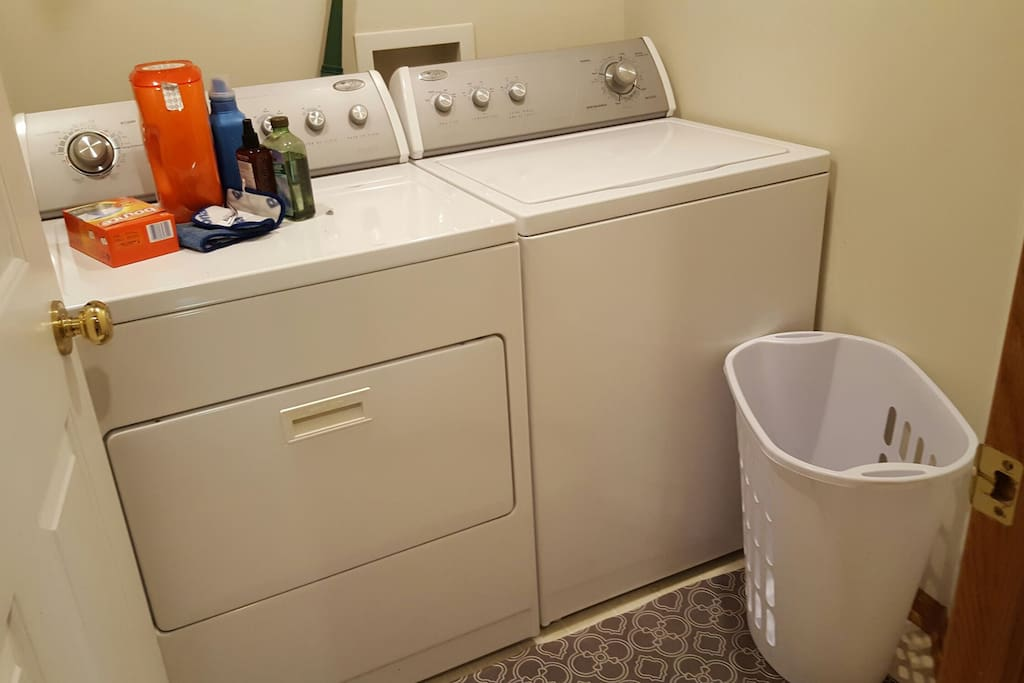 Private washer and dryer.