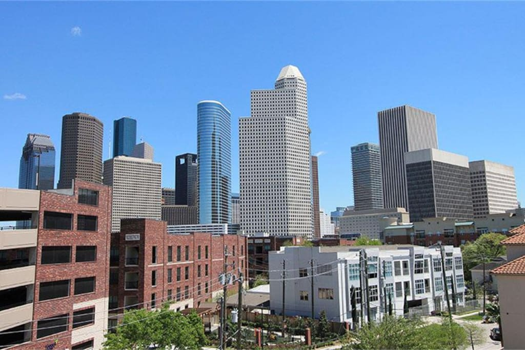 View of downtown from the roof deck!