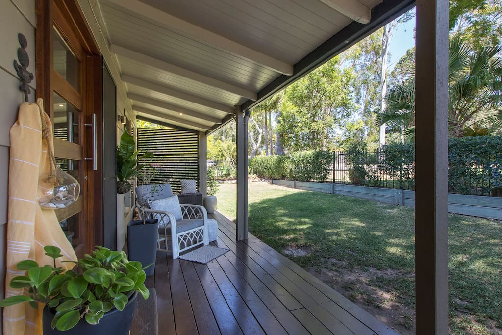 Relax and enjoy your Noosa holiday in the shade of The Gumnut's verandah!