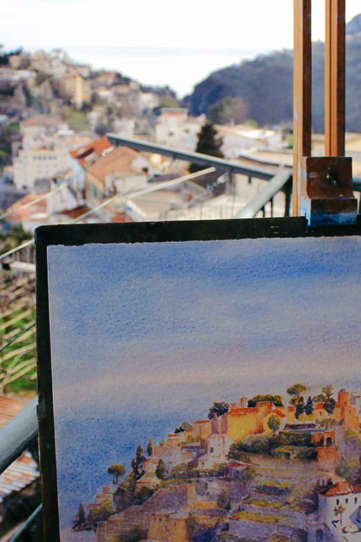 Painting from my terrace