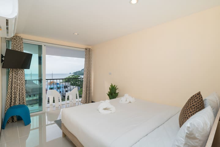 ♫#K double room with sea view and balcony♫