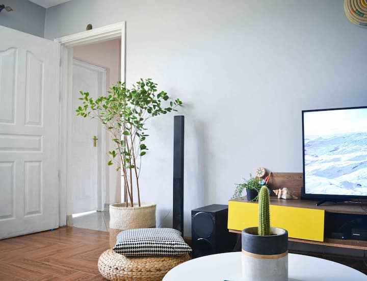 2Br, luxurious bohemian apartment.