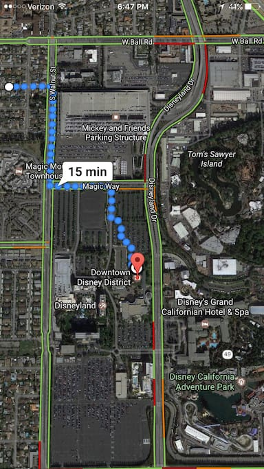 Short walk to the Monorail Station via Downtown Disney with pre purchased tickets
