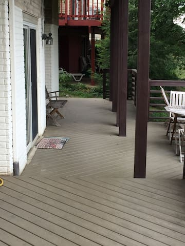 Private deck for guest use.  Sliding doors private entrance
