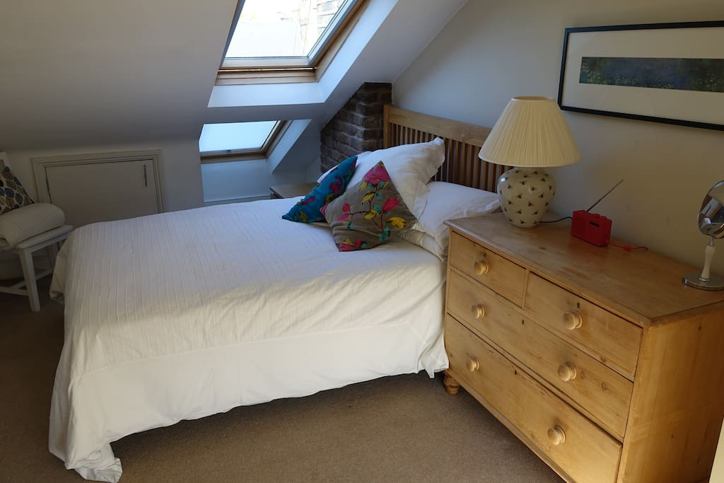 Double ensuite bedroom with double bed & plenty of storage