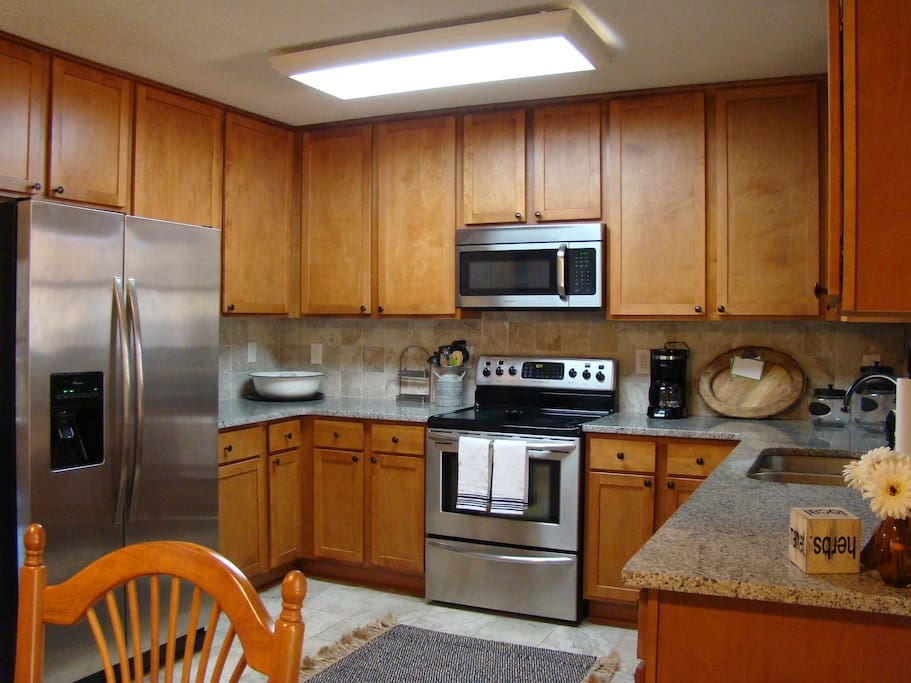 Large Refrigerator, Microwave and Stove