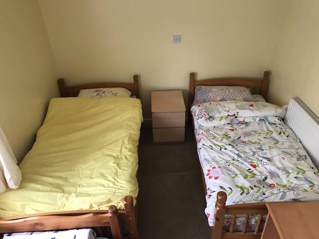 Three single bedroom with private washroom