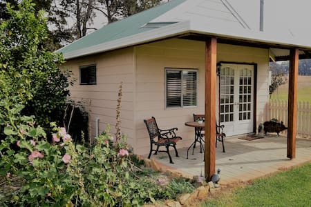 New guest house on working farm 15 min from town.