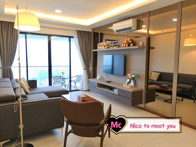 ★Luxury 2BR Highrise Seaview@The Landmark 无敌海景两房式★