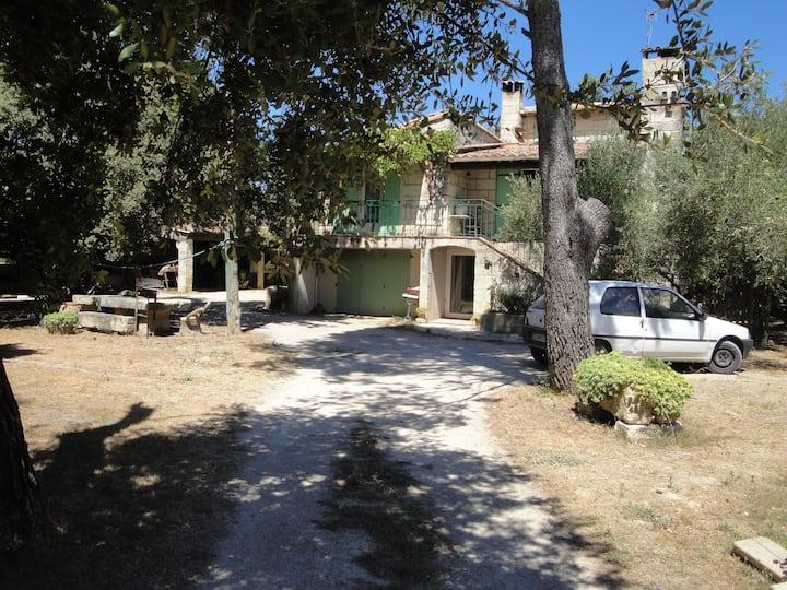 Le mas de Lucien entre Arles, Nimes, Avignon.