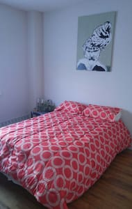 Master bed in 2 bedroom unit. - Bronx