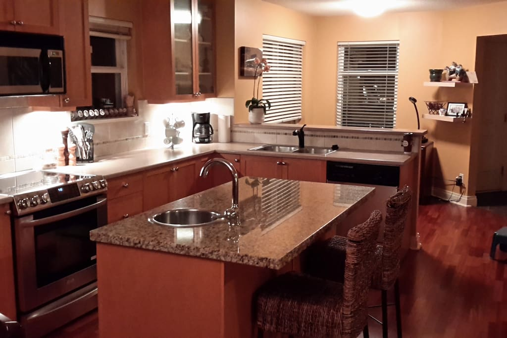 Open concept kitchen is perfect for  entertaining