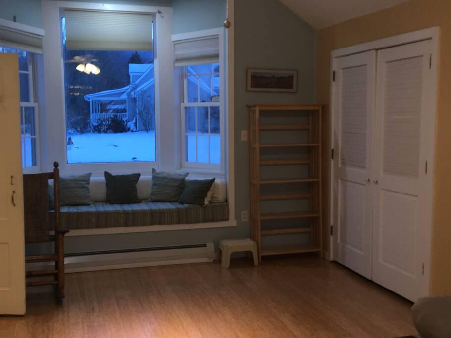 Bay Window - Doors open to sleeping area