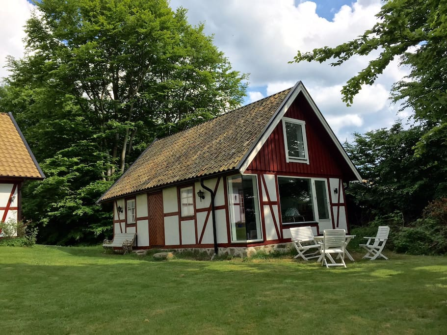 The lovely half-timbered cottage