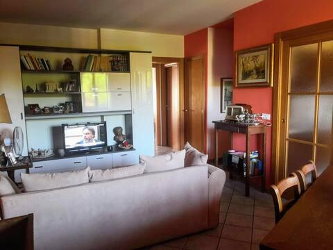 camera  in appartamento con vista sul Chianti