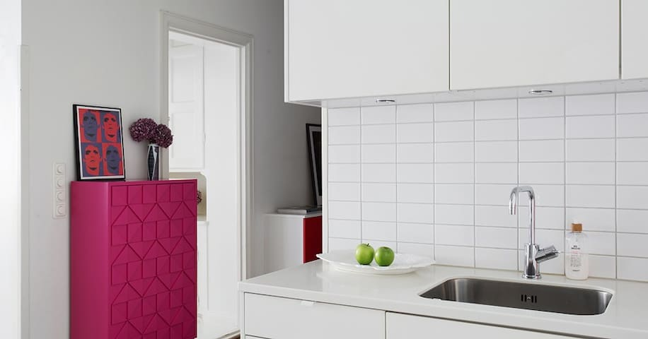 Lovely apartment with 2 balconys in Södermalm