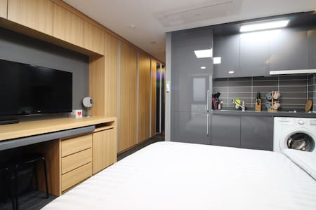 L1[DFS 100m Airport 2.4km] 2 Queen Beds Residence