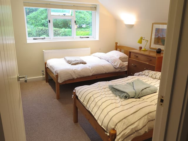 Pleasant and cosy TWIN ROOM in WEST DEAN village - West Sussex