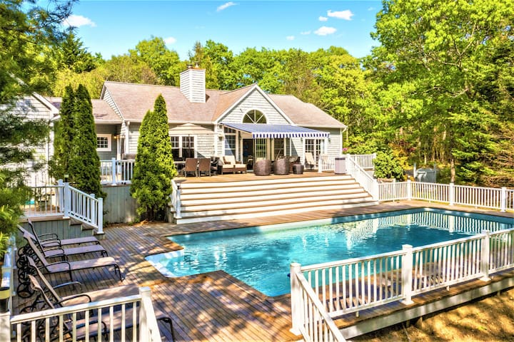 Private 4-acre retreat with pool and tennis court