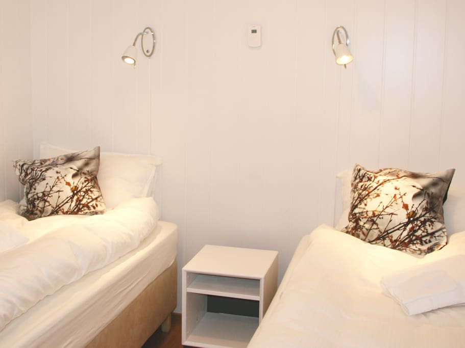 Comfortable twin beds. All rooms include fully made up beds with duvets, pillows and towels.
