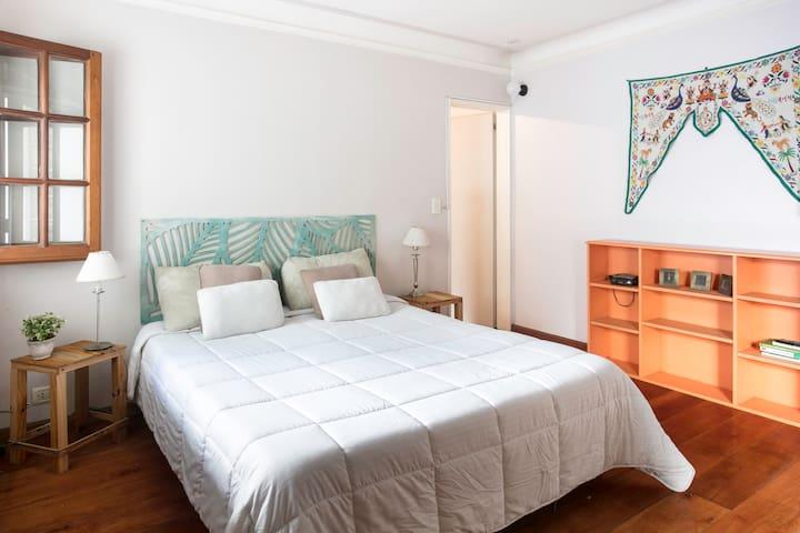 Bedroom: Queen bed and big wardrobe