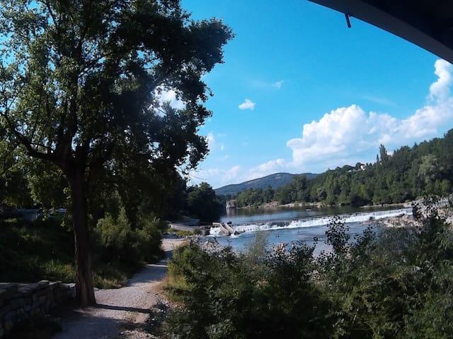 Ardèche Frankreich zelten an der Ardèche - Salavas - Tenda
