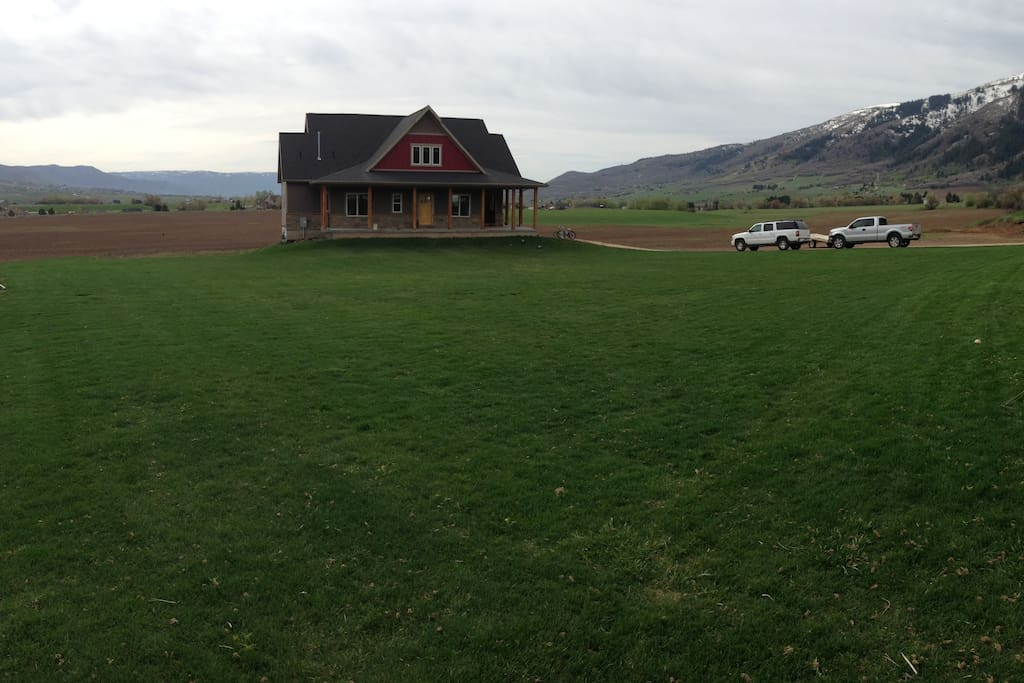 Large home with .5 acre of grass to play on